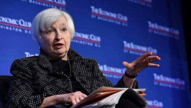 Federal Reserve Chair Janet Yellen speaks at the Economics Club of Washington in Washington, Wednesday, Dec. 2, 2015.