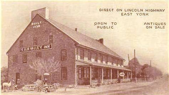 The York Valley Inn along the Lincoln Highway in Springettsbury Township