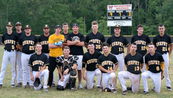 Murphy's baseball team beat Walkerton, 9-3, in the second round of the NCHSAA 1-A playoffs.