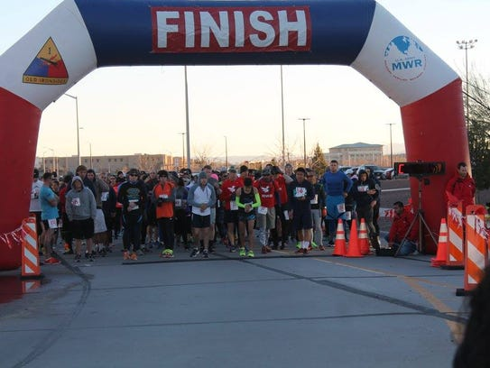 The Fort Bliss Half Marathon/5K Fun Run will be Jan.