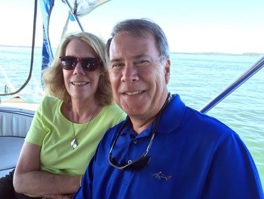 Linda and Jay Cook of Plover on Lake Mendota.  Linda