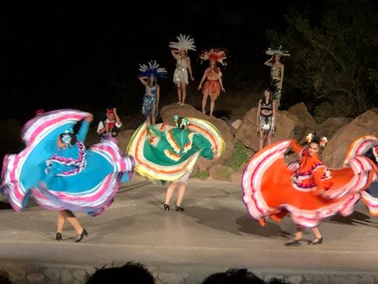 Cast members of Viva! El Paso perform during their 2.5-hour program last year in the 1,500-seat outdoor McKelligon Canyon Amphitheater.