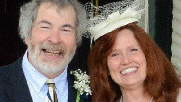 Jim McPeek and Bonnie Rolletta were married last month in front of the Midland Theatre in Newark.  They were high school sweethearts that seemed destined to marry back then, but they drifted apart while attending different colleges.