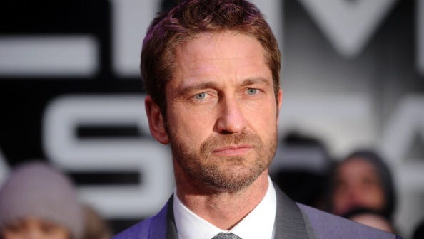 Gerard Butler attends the UK Premiere of 'Olympus Has Fallen' on April 3, 2013 in London, England.