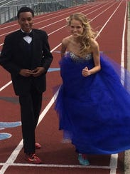 Natalie Douglas and her prom date, fellow Patriot distance-running