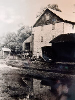 A 70-year-old photograph shows the Scheaffer Mill, which was located on Rocky Spring Road in Letterkenny Township. Families had to move from Letterkenny 75 years ago while they were building the army depot.
