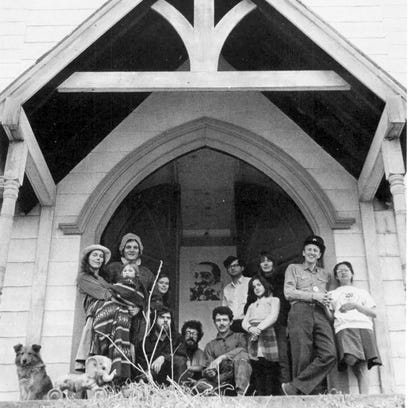 USCO and Friends at the Garnerville church, April 1966,