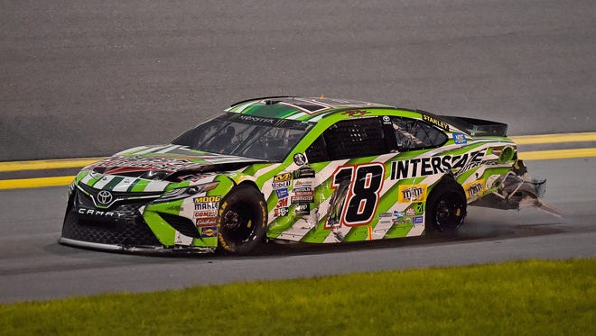 Kyle Busch spun and caused a crash in the Coke Zero 400 that collected several potential race winners.