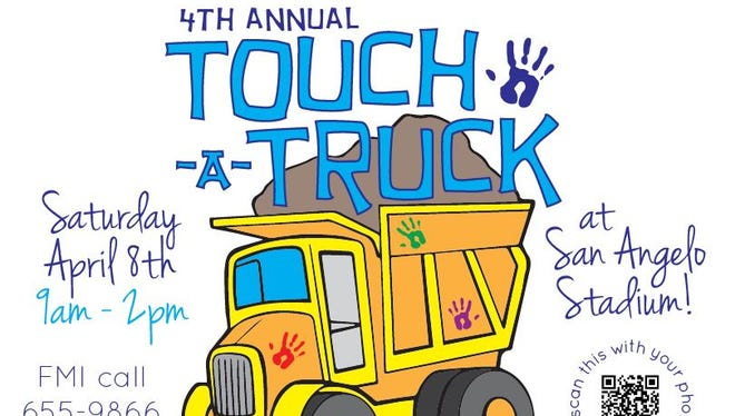 The Junior League of San Angelo's Touch-A-Truck event is set for April 8 at San Angelo Stadium.