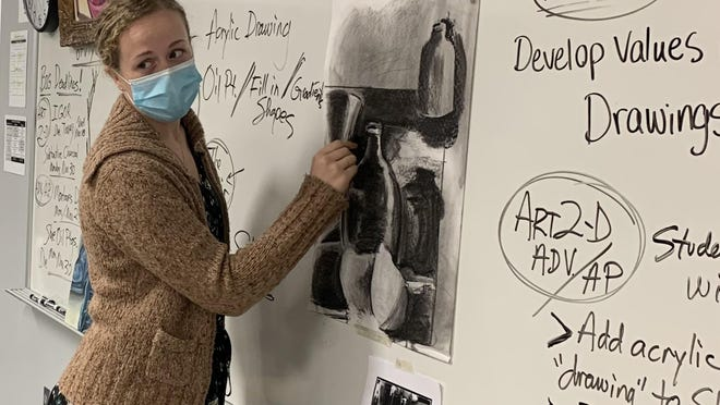 Bethany College student teacher Katherine Fowler has been teaching art at Salina Central High School and was recently honored as one of the Teachers of Promise from the Kansas State Department of Education.