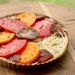 A tomato tart is a luscious way to use up the season's tomatos.