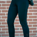 Meghan Shaver has her own opinions about the pants she road tested.