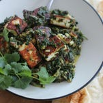 Saag paneer with cauliflower and spinach is an easy project.