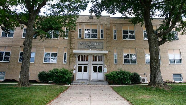 Exterior of St. Joseph's Elementary School on Hooper