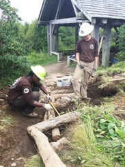 Members of the American Conservation Experience work