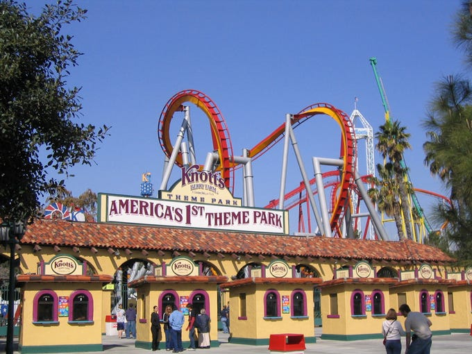 Knott's Berry Farm is the oldest theme park in Southern