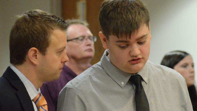 Roy Tanner, right, with his attorney Aaron Bartell in court Thursday.