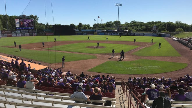 Neuroscience Group Field at Fox Cities Stadium in Grand Chute is the site of the year's WIAA state baseball tournament.