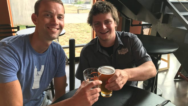Guests on Taproom Live at Mr. Brews Taphouse in Appleton were David Knuth, owner and brewer Knuth Brewing in Ripon, and Ian Wenger, co-owner and brewer Fifth Ward Brewing in Oshkosh.