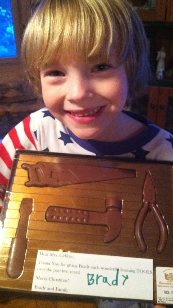 Chocolate tools for Brady's therapists for giving him so many tools!