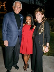 (L to R) Hal Gershowitz, Vice President and Treasurer of the Board and Event Co-chair, Simone Biles, and Diane Gershowitz enjoy the sponsor's reception the evening before the luncheon.