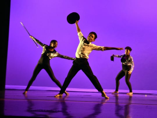 Members of the Austin-East Dance Company (including