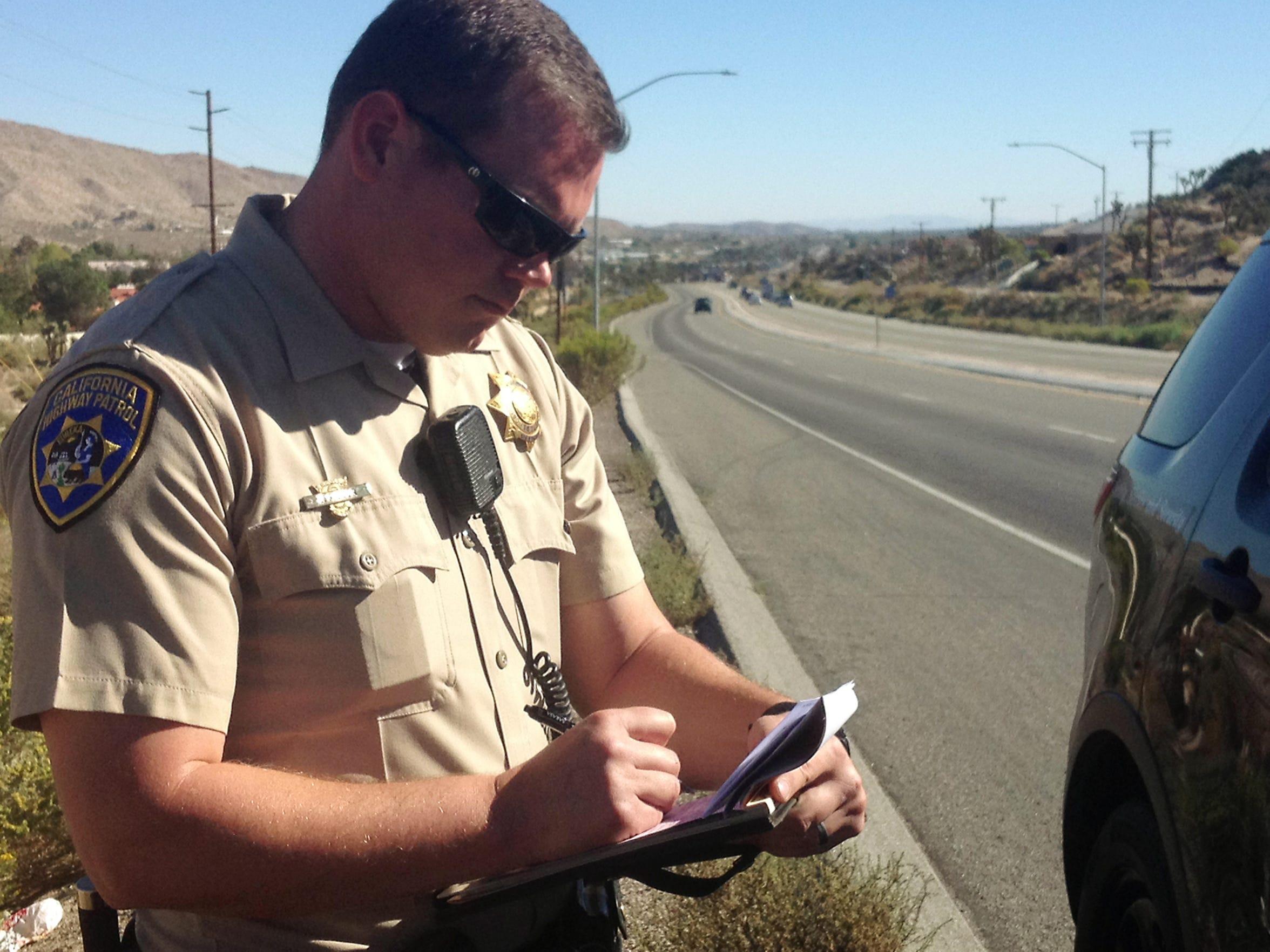 California Highway Patrol Officer Jesse Miller writes