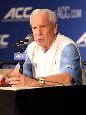 North Carolina Tar Heels head coach Roy Williams during ACC basketball media day at The Westin.