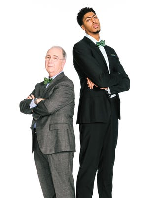 Anthony Davis will sport a stylish bow tie in upcoming H&R Block commercials with popular tax adviser Richard Gartland.