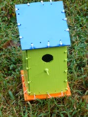 Sametta Glass has made birdhouses using zip ties to