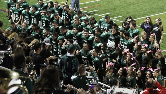 Brewster defeated  Hen Hud 42-28 in football playoff action at Brewster High School  Oct. 21, 2016.