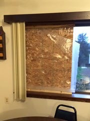 VFW officials said this window was broken out during
