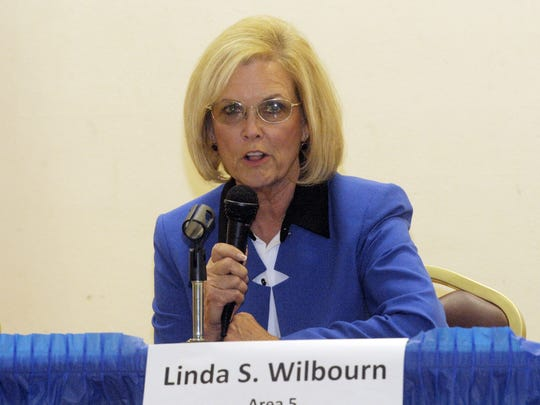 Tulare Regional Medical Center Board President Linda Wilbourn, pictured at a candidate forum in October 2014, announced her resignation Wednesday afternoon.