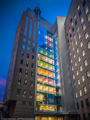 The new 15-story, $205 million Clinicial Sciences Pavilion at Cincinnati Children's Hospital Medical Center opens Friday after three years of construction.