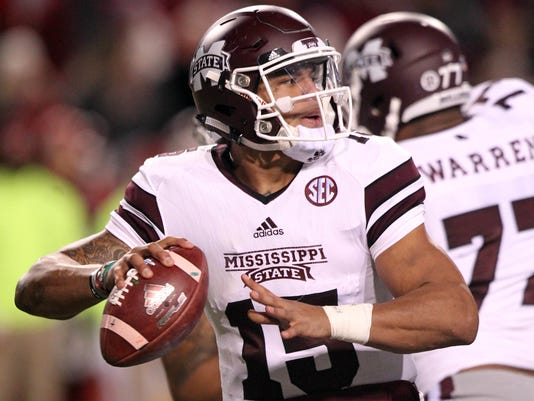 NCAA Football: Mississippi State at Arkansas
