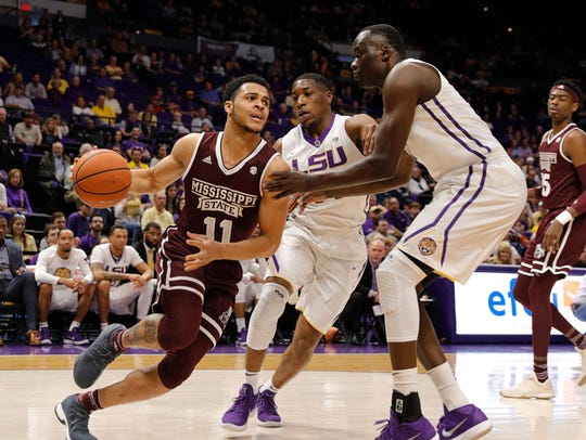 Mississippi State Bulldogs guard Quinndary Weatherspoon (11) will try to lead Mississippi State back to the NCAA Tournament for the first time since 2009. Mandatory Credit: Stephen Lew-USA TODAY Sports