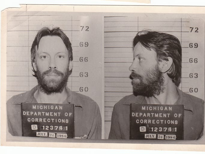 Thompson's 1986 mug shot from the Michigan Department of Corrections.