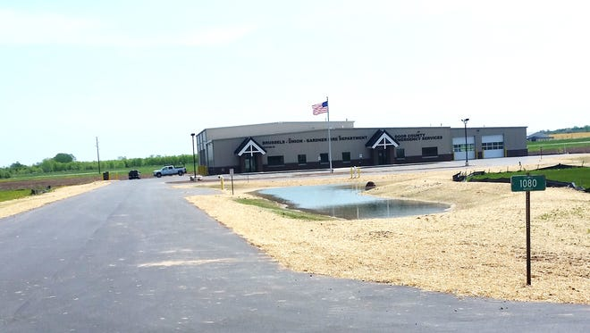 The station is located on Door County C, several hundred feet north of its intersection of State 57.