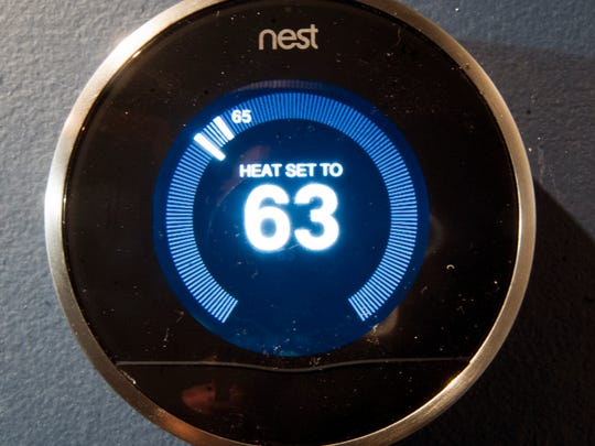 My Nest learning thermostat in 2013
