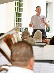 Bob Moody directs the Stonewall Brigade Band, the nation's