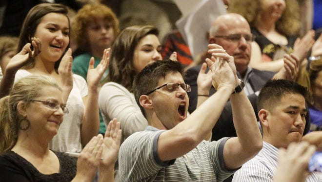 SCPA students and parents protested at the board of education meeting after it was announced in May the school's principal and artistic director would be reassigned.