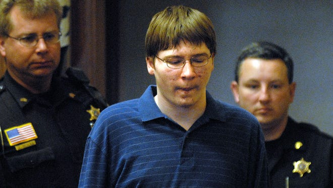 Brendan Dassey is escorted into the courtroom in Manitowoc County Circuit Court.