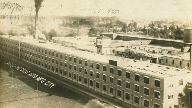 Exterior of the REO Factory, undated photo.