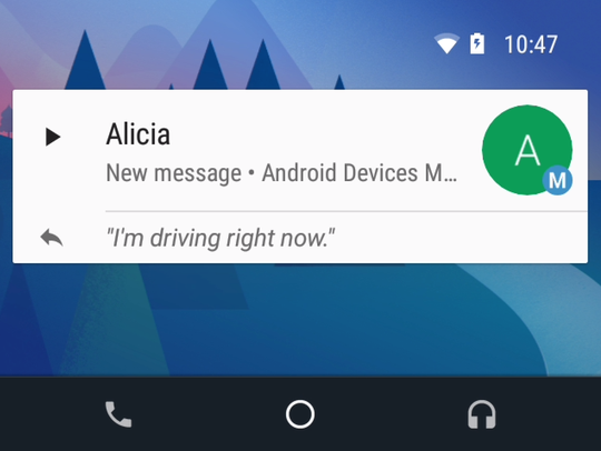 If your vehicle supports Android Auto, connect your phone and you'll be able to tap the screen to hear – and reply to – text messages, Emails are not supported, however, unless you have an app for that.