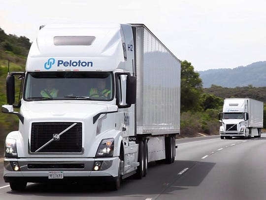 Peloton Technology makes sensors and software that keep trucks virtually connected but 50 feet apart, allowing for mileage-improving runs and less work for drivers.