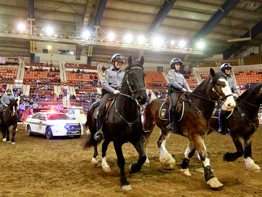 Pennsylvania State Police Tactical Mounted Unit demonstrate