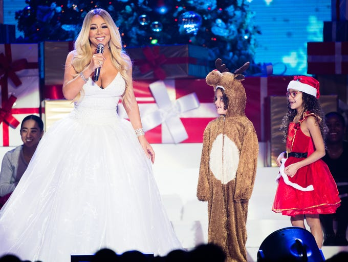 Mariah Carey, with children Moroccan Cannon and Monroe