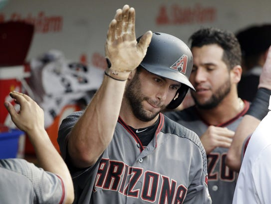 The Diamondbacks' Paul Goldschmidt celebrates with