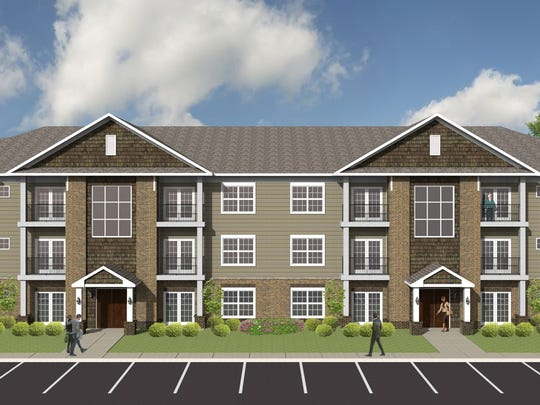 A rendering of Ardmore at the Park, a new apartment