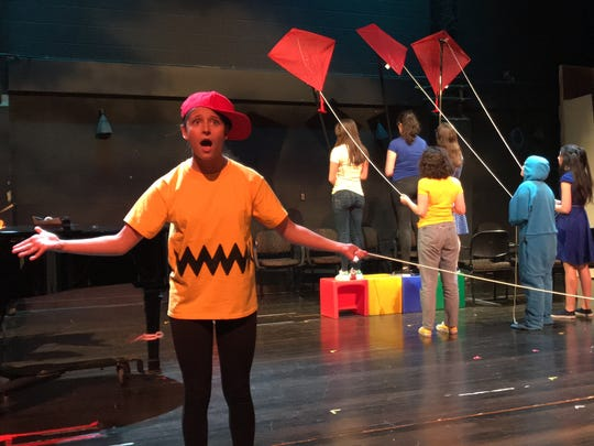 """New Rochelle High School staged an inventive """"You're a Good Man, Charlie Brown"""" in the school's smaller, Linda Kelly Theater."""